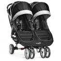 Baby Jogger City Mini Gemelar - Silla de paseo, color negro /...
