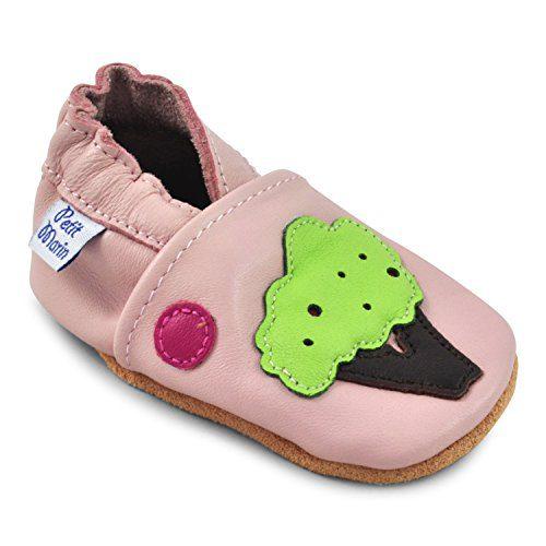 Petit Marin - Zapatos de Bebé - Zapatillas de Niño Niña - Patucos de Piel con Elástico para Bebé -...