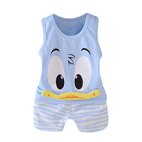 QinMM Pijama Niños Bebes Pato Conjunto