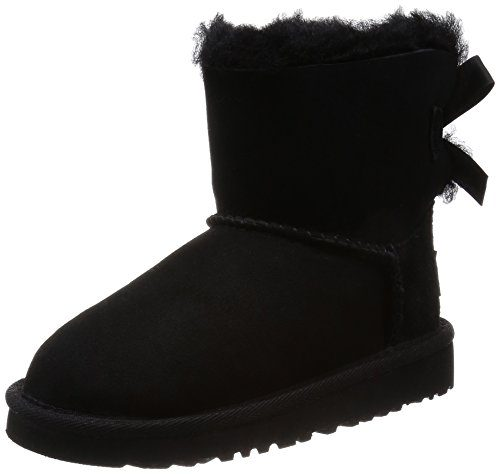 UGG Mini Bailey Bow, Mocasines para Bebés, Negro (Nero), 22.5 EU